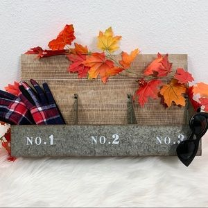 Rustic Metal Bins Wall Hanging 12x20